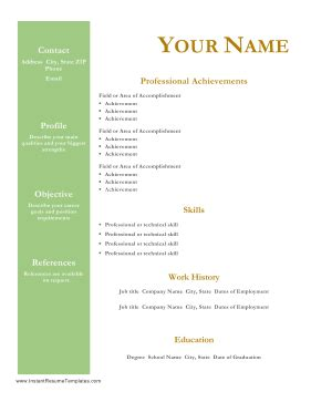 College degree format resume